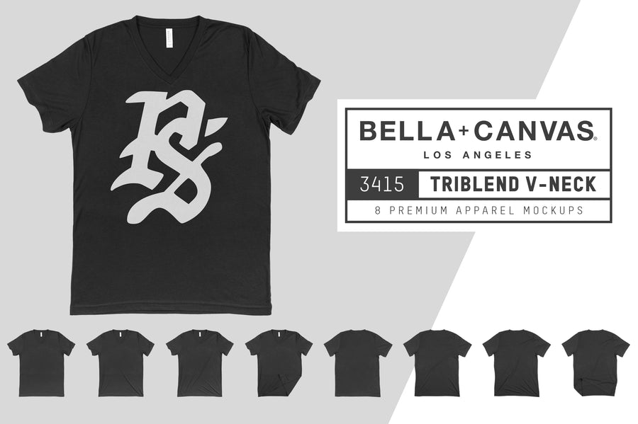 Bella Canvas 3415 Unisex Triblend V-Neck