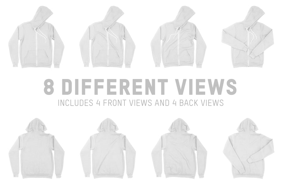 Bella Canvas 3739 Zip-Up Hoodie