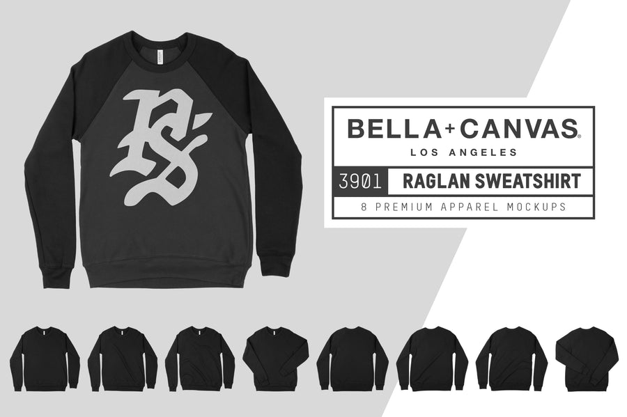 Bella Canvas 3901 Raglan Sweatshirt