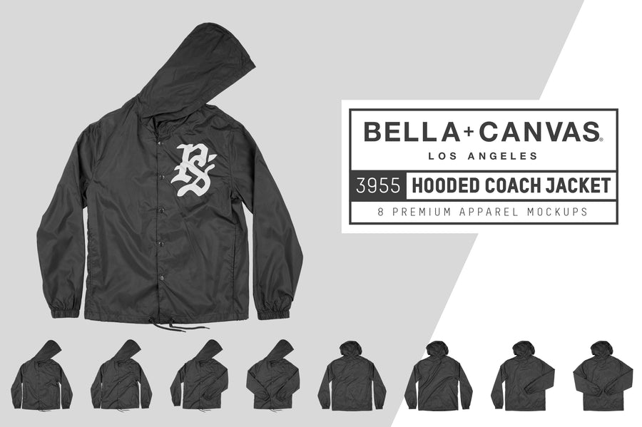 Bella Canvas 3955 Hooded Coach's Jacket