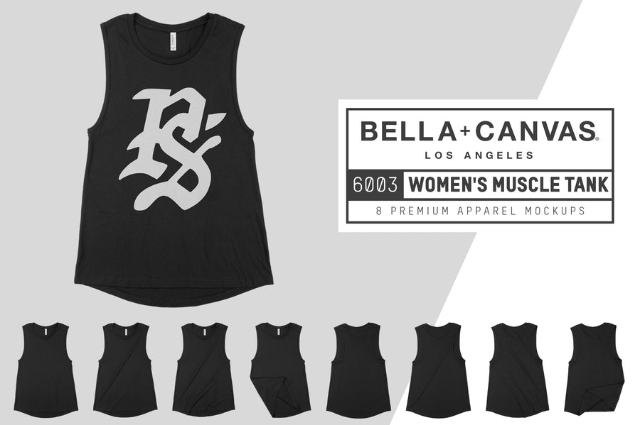 Bella Canvas 6003 Muscle Tank Mocks