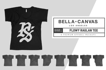 Bella Canvas 8801 Flowy Raglan Tee