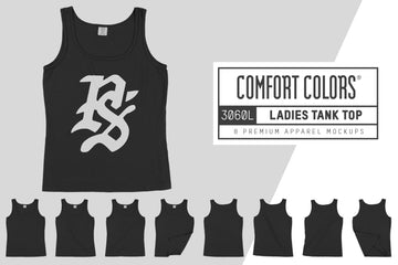 Comfort Colors 3060L Ladies Tank Top Mockups