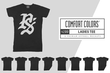 Comfort Colors 4200 Ladies T-Shirt Mockups