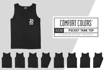 Comfort Colors 9330 Pocket Tank Top Mockups
