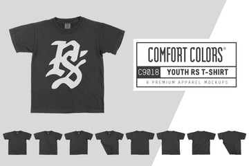 Comfort Colors C9018 Youth T-Shirt Mockups