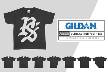 Gildan 2000B Ultra Cotton Youth T-Shirt Mockups