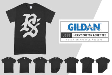 Gildan 5000 Heavy Cotton Adult T-Shirt Mockups