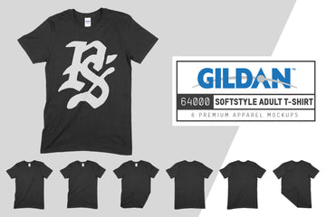 Gildan 64000 Softstyle Adult T-Shirt Mockups