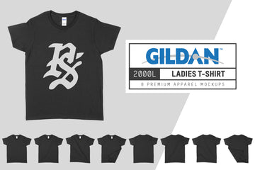 Gildan 2000L Ladies' T-Shirt Mockups