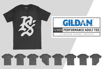 Gildan 42000 Performance Adult T-Shirt Mockups