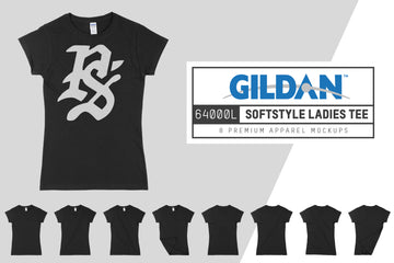 Gildan 64000L Women's Fitted T-Shirt Mockups