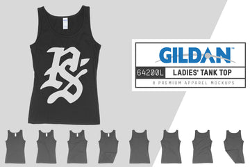 Gildan 64200L Ladies' Tank Top Mockups