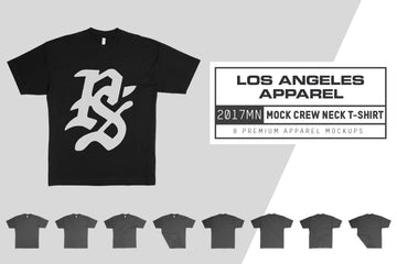 LA Apparel 2017MN Mock Neck T-Shirt