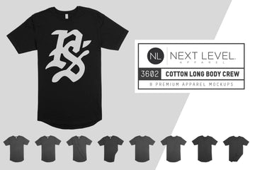 Next Level 3602 Long Body Crew Tee