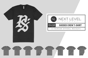 Next Level 6410 Sueded Crew T-Shirt