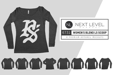 Next Level 6731 Women's Triblend Longsleeve Scoop