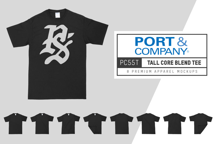 Port & Company 55T Tall Core T-Shirt