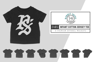 Rabbit Skins 3401 Infant T-Shirt Mockups