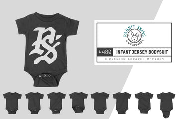 Rabbit Skins 4480 Infant Bodysuit Mockups