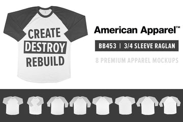 American Apparel BB453 3/4 Raglan
