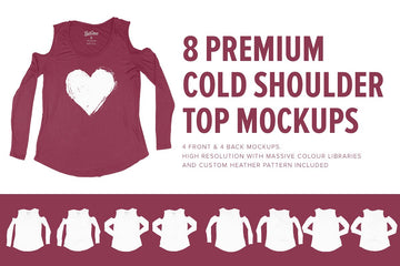 Premium Cold Shoulder Top Mockups