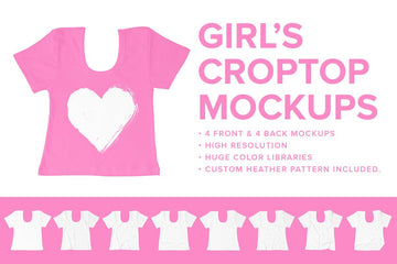 Premium Girl's Crop Top Mockups