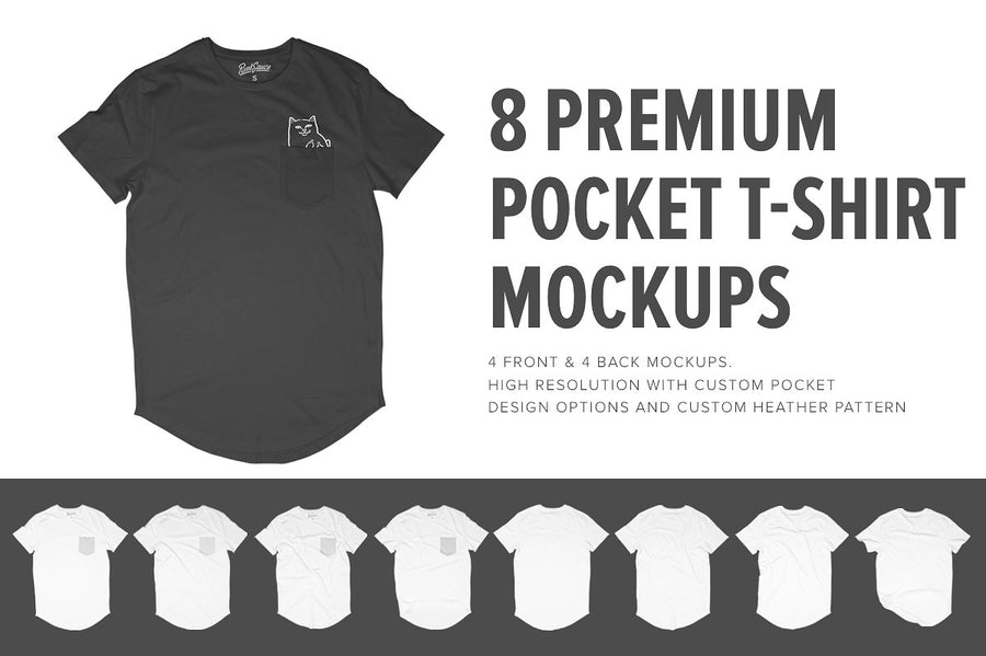 Premium Pocket T-Shirt Mockups