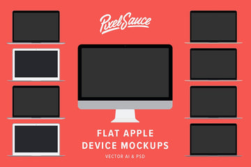 Flat Apple Device Mockups