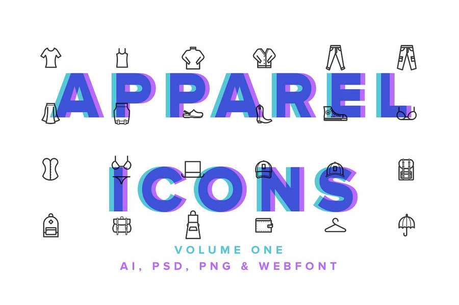 Clothes & Apparel Icons Vol 01