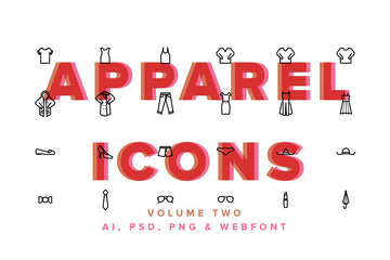 Clothes & Apparel Icons Vol 02