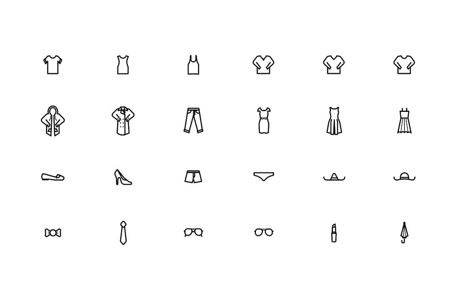 Clothes & Apparel Icons Bundle
