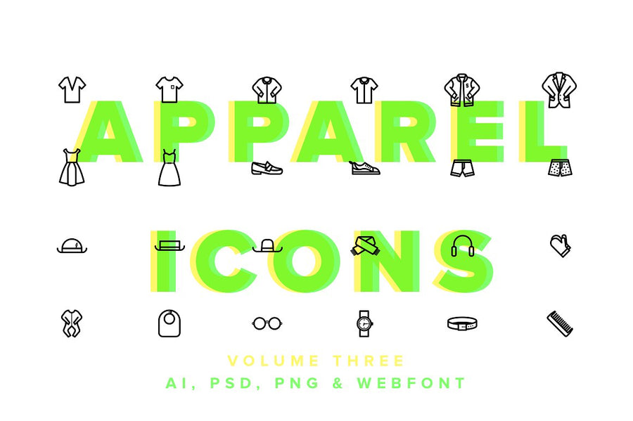 Clothes & Apparel Icons Vol 03