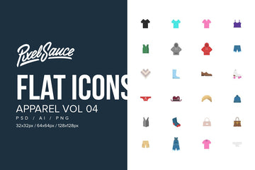 Clothes & Apparel Flat Icons Vol 04