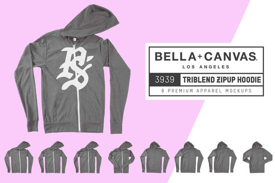 Bella Canvas 3939 Zip-Up Hoodie