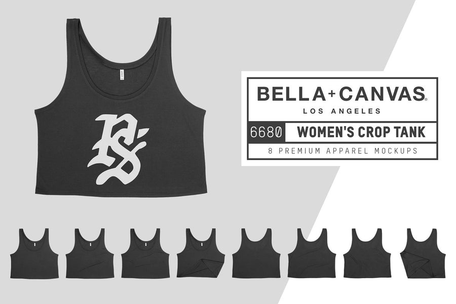 Bella Canvas 6680 Women's Crop Tank
