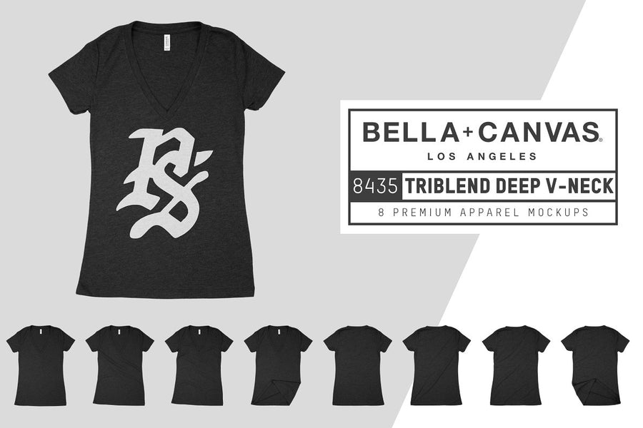 Bella Canvas 8435 Triblend V-Neck
