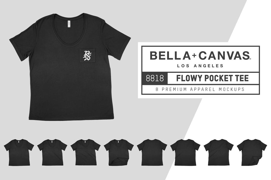 Bella Canvas 8818 Flowy Pocket Tee