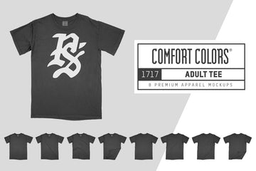 Comfort Colors 1717 Adult T-Shirt Mockups