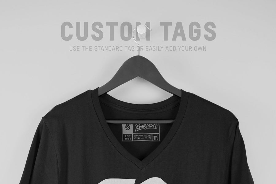 Hanging V-Neck T-Shirt Mockups