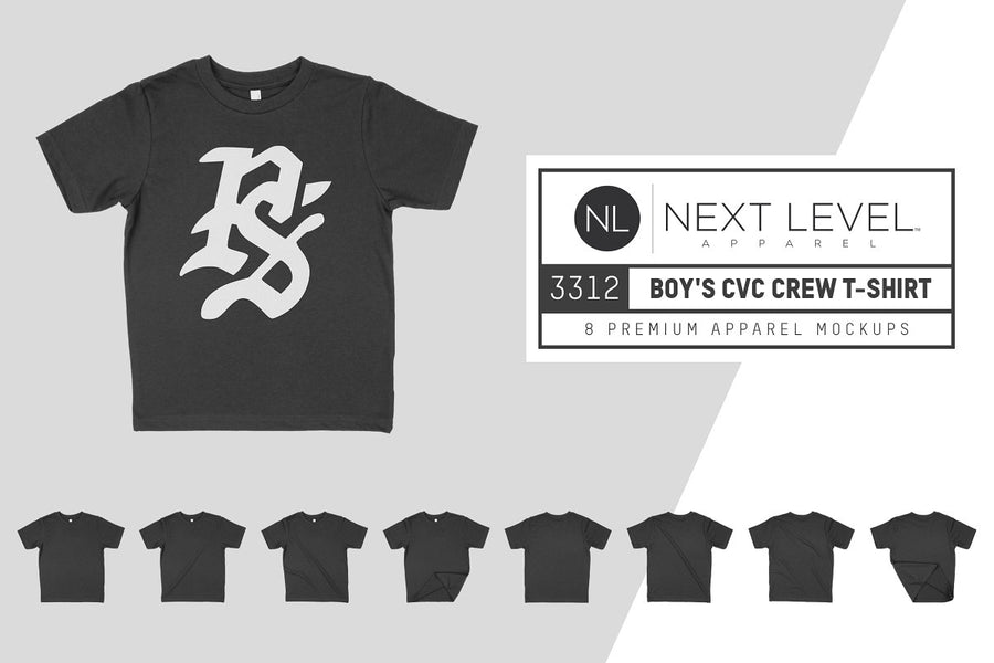 Next Level 3312 Boy's CVC Tee Mocks