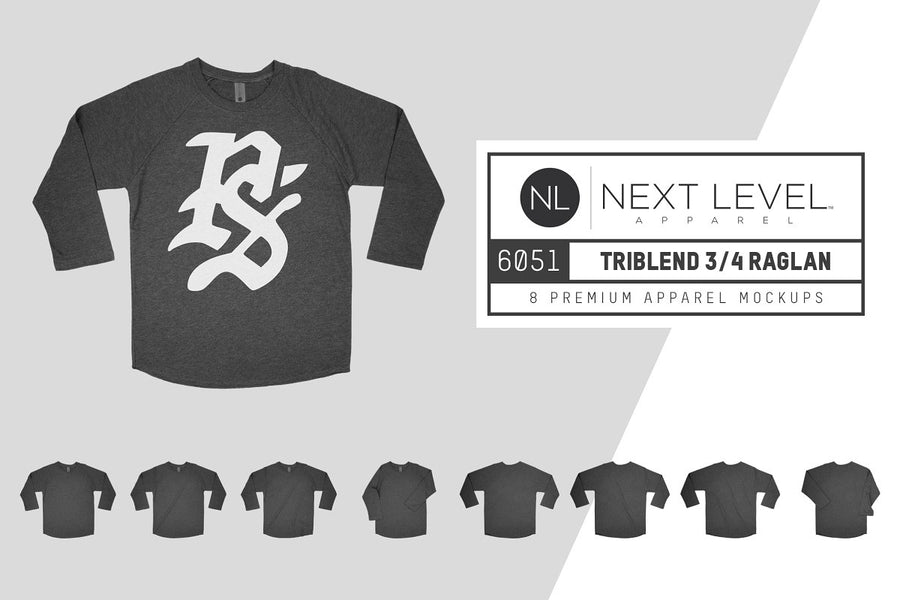 Next Level 6051 Triblend 3/4 Raglan