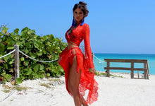 FAIRY TALE RED lace set