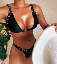 ELECTRIC NOIR ribbed bikini