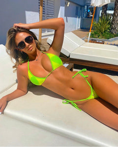 COSMIC LOVE mini neon bikini