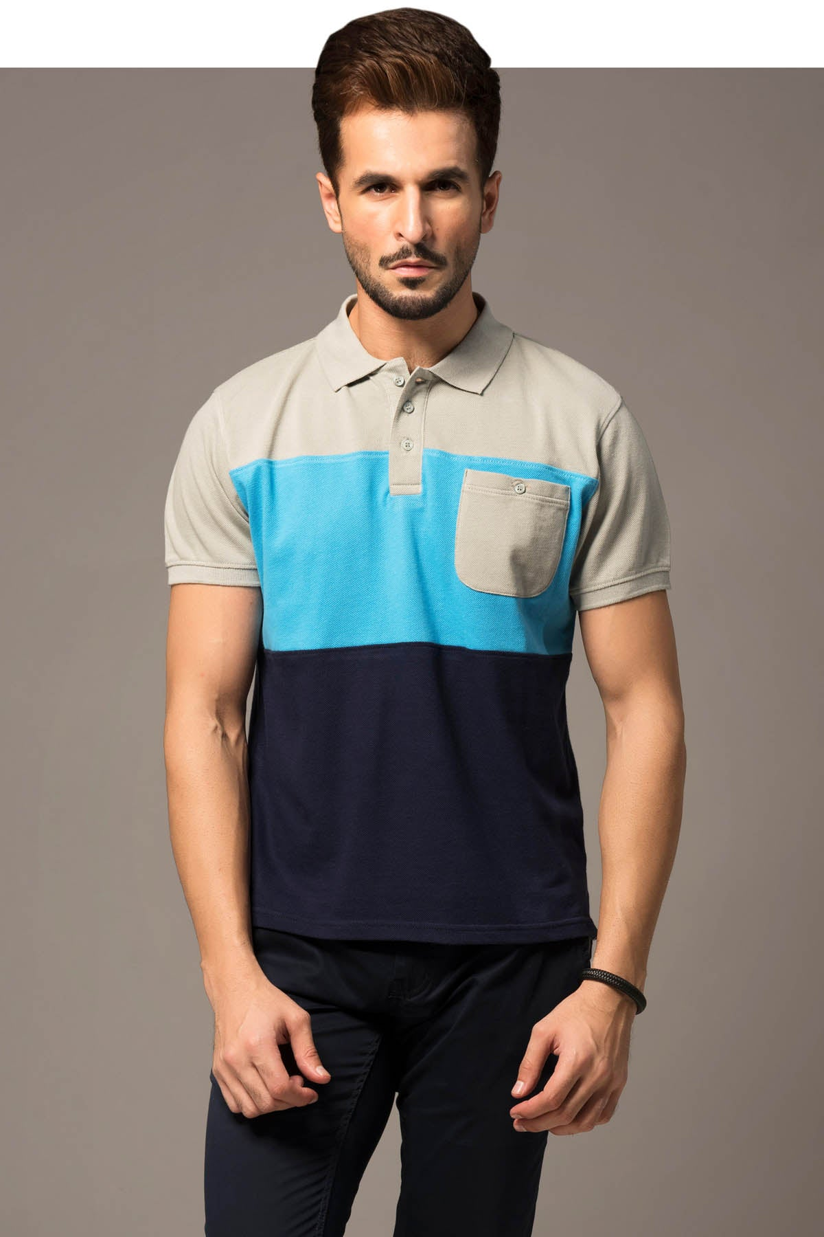 Block Paneled Polo