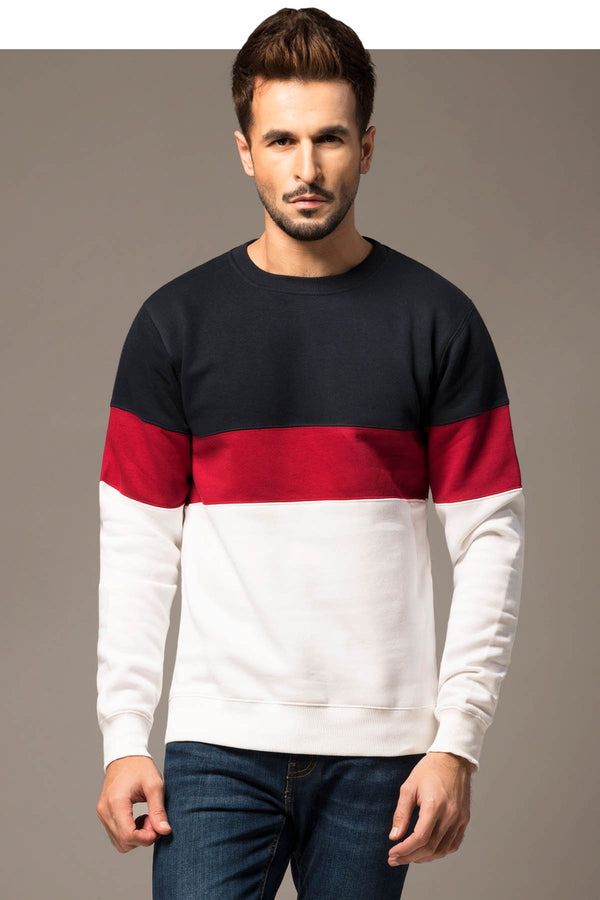 Color Blocking Sweat Shirt