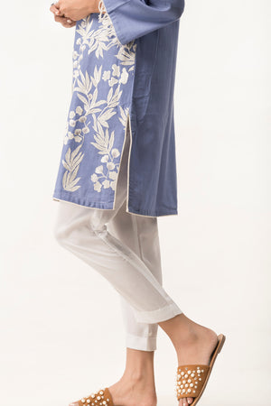 Basic Silk Trouser White