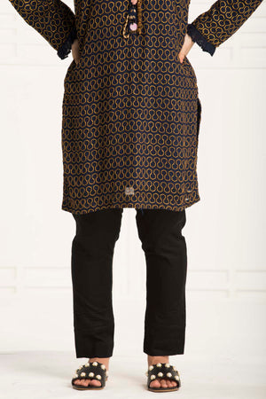 Black Pintucks  Trouser