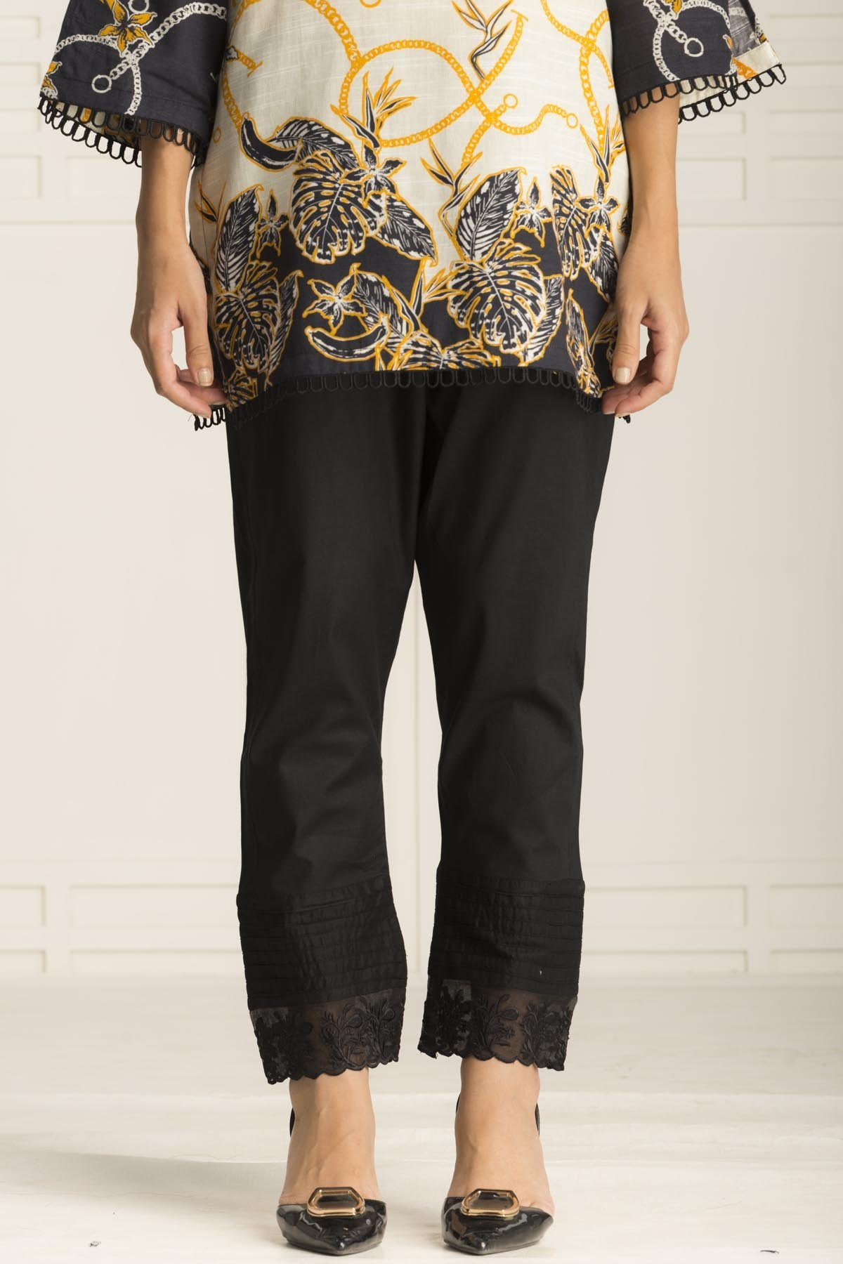Black Cut Trouser